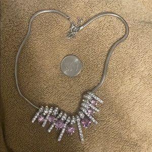 Costume jewelry pink glitz snake necklace - New